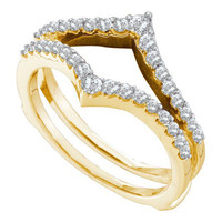 14k Yellow Gold 0.47Ctw Diamond Fashion Wedding Ring Band: Ring