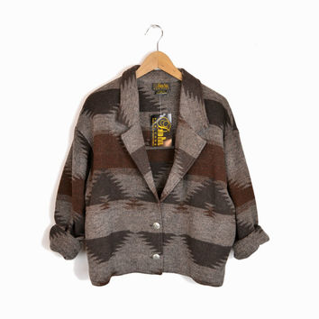 Vintage Southwestern Jacket in Navajo Brown - women's large