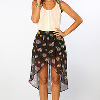 The Ric Rac Hi Low Skirt in Black