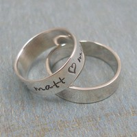 RING OF LOVE.......Hand Stamped Ring - Sterling Silver Ring - Wedding Band