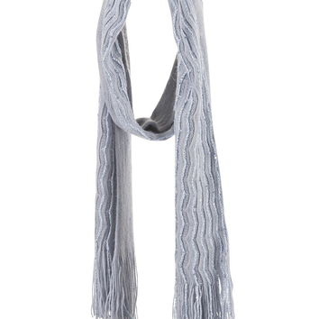 Wavy Sequin Oblong Scarf