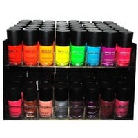 Matte Style 16 Piece Color Nail Lacquer Combo Set + 6 Sets of Fruit Scented Nail Polish Remover: Health &amp; Personal Care