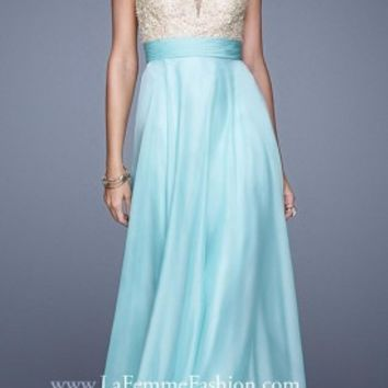Formal Lace Applique Prom Dresses By La Femme