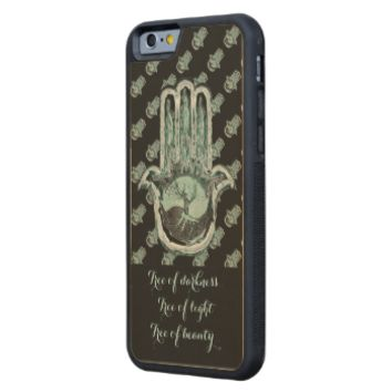Tree of Light and Dark (Hamsa Hand) Carved® Maple iPhone 6 Bumper Case