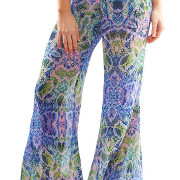 roberts party pants - multi snake