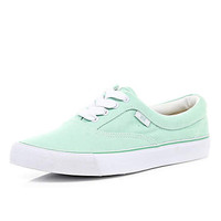 light green lace up plimsolls