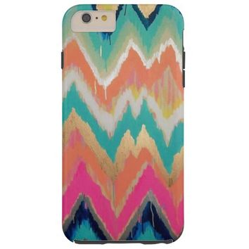 Watercolor Bright Chevron Zig Zag Stripe Pattern iPhone 6 Plus Case