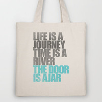 The Door is Ajar Tote Bag by ▲ Bright Enough | Society6