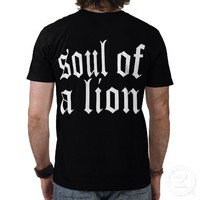 SOUL OF A LION BLACK TEE from Zazzle.com