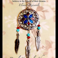 Lotus Flower Dream Catcher Necklace