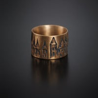 House Ring, Flat Bronze
