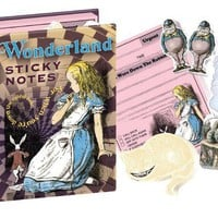 Wonderland Notes - Alice in Wonerland Sticky Notes - Whimsical & Unique Gift Ideas for the Coolest Gift Givers