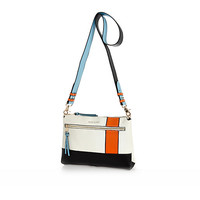 River Island Womens White sporty colourblock cross body bag