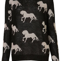 Knitted All Over Horses Jumper - Knitwear  - Apparel