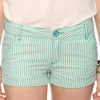 Cuffed Seersucker Shorts