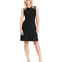 Kenneth Cole New York Bonita Faux-Leather Cheetah-Print Dress - Black