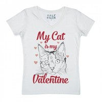 My Cat Is My Valentine-Unisex Snow T-Shirt