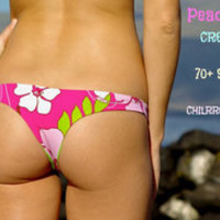 KAIMANA REVERSIBLE SEXY CHEEKY BRAZILIAN BIKINI BOTTOMS (50+ FABRIC CHOICES) CUSTOM MADE BY PEACE OF PARADISE CREATIONS