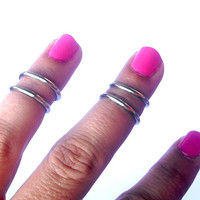 Above the Knuckle Rings - Antique  Silver  Above Knuckle Ring  - Set of 4 by Tiny Box