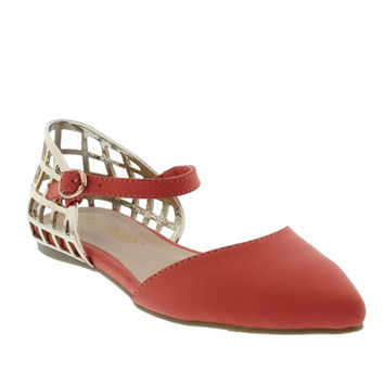 CUT OUT D'ORSAY STYLE FLATS