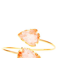 Quartz Arrowhead Cuff - Peach