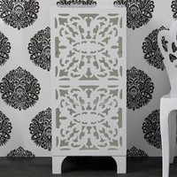 lace cut bath cabinet - white - $0.00 : brocade home