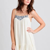 In Time Embroidered Dress