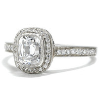 D Color Micro Set Diamond Ring - The Three Graces