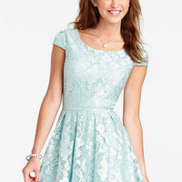 Cap Sleeve Lace Dress