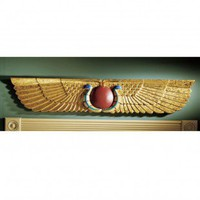 Design Toscano Egyptian Temple Sculptural Wall Pediment - NG32428 - All Wall Art - Wall Art & Coverings - Decor