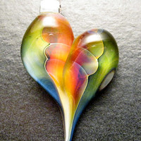 Heart Pendant - Glass Lampwork Jewe.. on Luulla