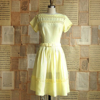 vintage 50s buttercup sun dress m by breadbuttervintage on Etsy