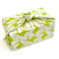 Give Joy Antelopes Give Wrap™ - lime/cherry