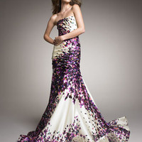 Monique Lhuillier - Strapless Silk Trumpet Gown - Bergdorf Goodman