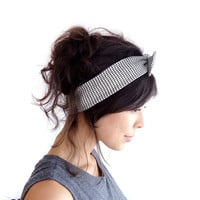 Gingham Skinny Bow Tie Hairband