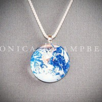 Earth Pendant Necklace On Interchangeable Chain by monicaKcampbell