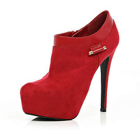 red platform ankle boots
