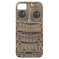 Cute Owl Bling Metal iPhone 5 Cases from Zazzle.com