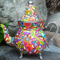 Decorative Clay Mosaic Teapot
