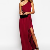ASOS One Shoulder Sexy Slinky Maxi Dress