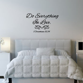 Vinyl Wall Decal Do Everything in Love Bible Verse Wall Decal 22503