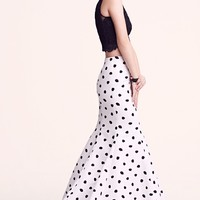 Dotted Mermaid Skirt & Lace Tank