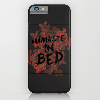 Namaste In Bed iPhone & iPod Case by Sara Eshak