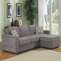 Lucas Charcoal Sofa Set | Overstock.com