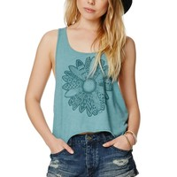 Volcom Stoned Destroyed Rolled Shorts - Womens Shorts - Blue -