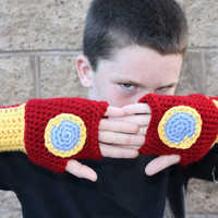 Iron Man Fingerless gloves, Avengers, wrist warmers