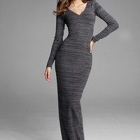 V-neck Maxi Sweaterdress