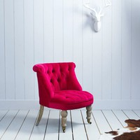 Trianon Chair in Pink Velvet