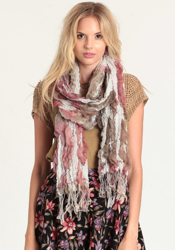 Sudden Breeze Ruffled Scarf - $14.00: ThreadSence, Women's Indie & Bohemian Clothing, Dresses, & Accessories