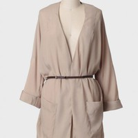 country club belted jacket at ShopRuche.com